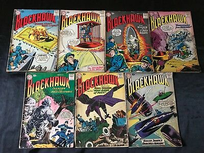 Lot Of 7 Blackhawk Comic Books #111 #113 #135 #136 #138 #139 #142 +