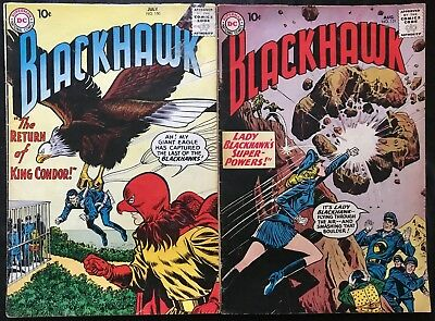 Lot Of 2 Blackhawk Comics (Dc,1960) #150 & 151 Silver Age ~