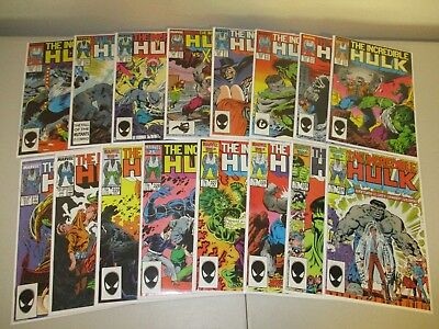 Incredible Hulk #324-339 (Full Lot of 16) 1980s High Grade Set (9.0-9.4) #330