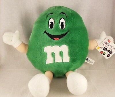 "Vintage 1994 M&M 14"" Green Plush Toy Fun Friend"