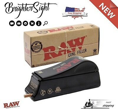 Raw Natural Rolling Papers Cone Filler-Cone Shooter Machine 1/4 Size Tobacco NEW