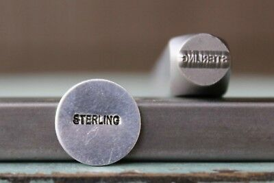 SUPPLY GUY 1mm x 7mm STERLING Marking Word Metal Punch Design Stamp SGCH-263