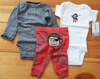 498923520 CARTERS BABY BOYS Monkey Snap-up Cotton Romper 18 Months -  24.99 ...