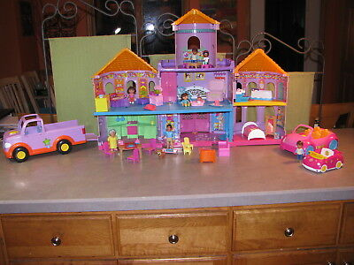 53 pc DORA THE EXPLORER CASTLE DOLL HOUSE LOT ~ LOADED Truck & Car w SOUND baby