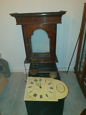 Long Case Grandfather Clock Mechanism, Case, Pendulum, key/winder - spare parts
