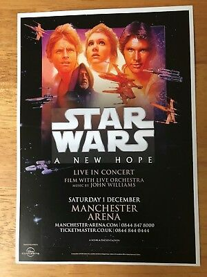 Star Wars - A New Hope - Live In Concert Manchester 2018 Uk Tour Flyer (Size A5)