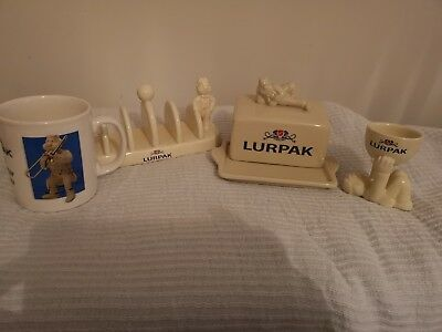 Lurpak butter dish, toast rack, Egg Cup And Mug  Collectors Set. Never Used