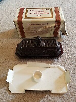 Avon 1876 Cape Cod Ruby Red Covered Butter Dish