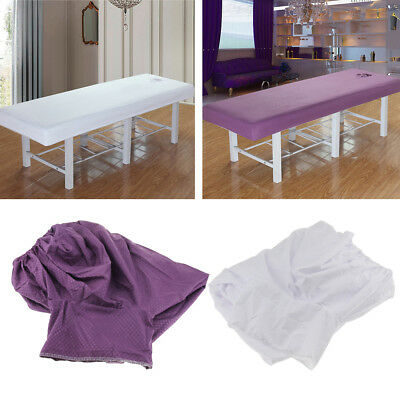 Massage Table Bed Protection Fitted Pad Sheet Cover with Face Rest Hole