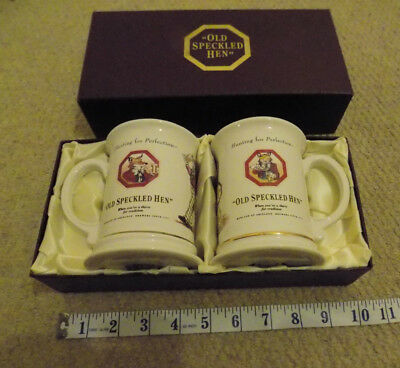 A boxed pair of Old Speckled Hen mugs c.1990s