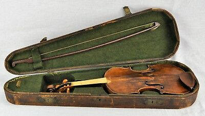 Antique Violin   Repaired by William L Peters in late 1800's. (BI#MK/181117)