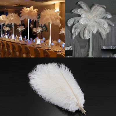 Elegant White Ostrich Feathers 15-45cm Wedding Party Costume Craft Wholesale