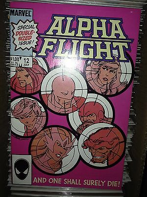 Alpha Flight #12 (1984) VF, (Death of Guardian)