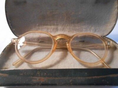 Bausch & Lomb Motorcycle safety glasses in metal case--antique vintage