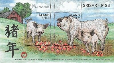 Aland Mi.nr. Block 18 (2018) Mint Chinese New Year:Year of the Pig