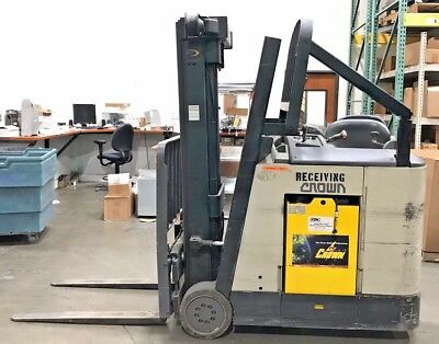 2004  Electric Crown RC3020-35 Compact Stand Up Electric Forklift, 3,500 lbs