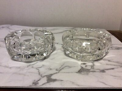 Pair Of French Crystal Ashtrays By St Louis Crystal