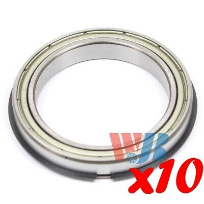 Set of 10 BALL BEARING WJB 6807-ZZNR WITH 2 METAL SHIELDS ABEC 3 C3 FITTING ZV2