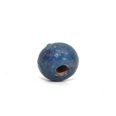* A large Egyptian Blue Glazed Faience Bead, New Kingdom, Amarna Period, ca. 135