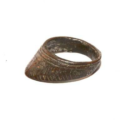 * A Roman bronze Archer's Ring, Roman Imperial Period, ca. 1st - 2nd Century AD