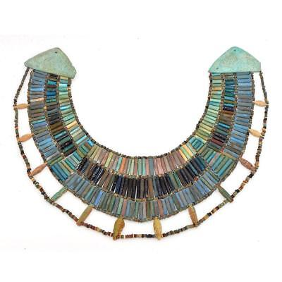 * A rare Egyptian Faience Broad Collar Necklace, Late Old Kingdom, ca. 2345–2181