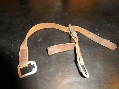 Vintage Fire Helmet Chin Strap Leather 9 99 Picclick