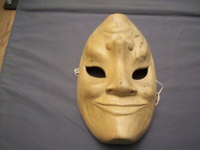 Indonesian Hand Carved Double Faced Wooden  Mask