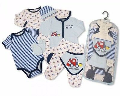 Tu Boys X 3 Long Sleeve Babygrows Up To 1 Month 9lb Strong Packing One-pieces