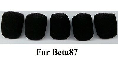 5 PCS Black Inner Foam Sponge Windscreen for shure 87A Beta 87C  SM87A SM86 KSM9