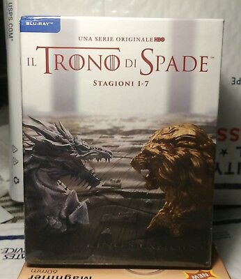 New Game Of Thrones Season 1-7 Blu-Ray! 30 Discs! Italy Import+Region B! Sealed