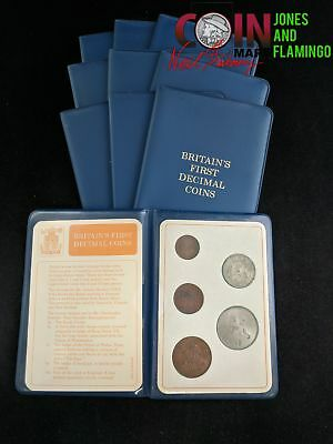 Lot Of 10 Booklets 'britain's Best Decimal Coins, 10 Total 5-Coin Sets #15615