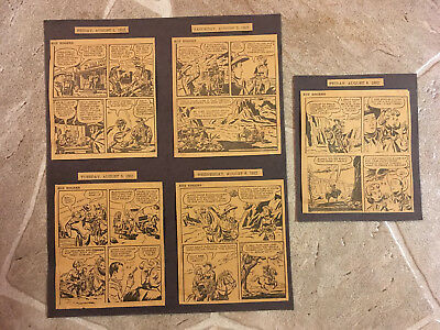 Vintage 1952 Roy Rogers Newspaper Daily Comic Strip (Lot of 5)