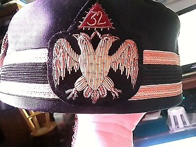 3c88f5d27e0 2 VINTAGE 32ND   33RD DEGREE SCOTTISH RITE CAP hat  SPECIAL White ...