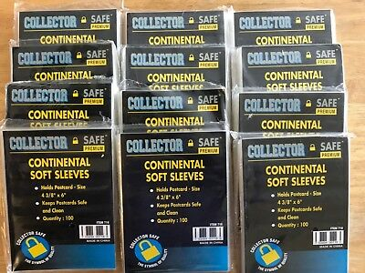 """1200 Collector Safe Premium Postcard Soft Sleeves 4 3/8"""" x 6"""" *SHIPS FREE*"""