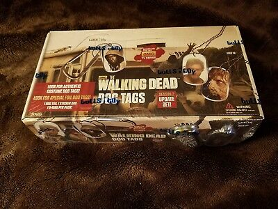 "The Walking Dead Dog Tags ""Season 2 Update Set"" 24-Pack Factory Sealed Box"