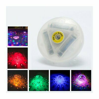 Floating Underwater RGB LED Disco Light Glow Swimming Pool Spa Lamp Bathtub Bulb