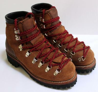d96ece6e1650f VINTAGE DEXTER HIKING Boot Suede Vibram Sole, Steel Toe, Leather Lined  Womens 7M
