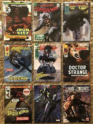 Marvel Masterpieces 2018 What If Card Lot - 11 Different Parallel Cards!