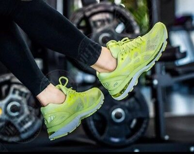 7a5001643fa4 ASICS T850N-8585  Gel-Nimbus 20 Womens Limelight Limelight Yellow Sneakers