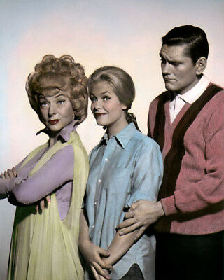 """BEWITCHED MONTGOMERY MOOREHEAD YORK TELEVISION 11x14"""" HAND COLOR TINTED PHOTO"""