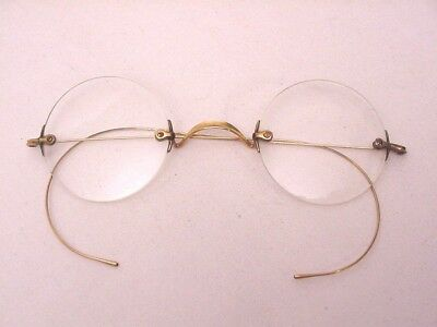Estate Antique Eyeglasses STOCO Gold Filled With Case