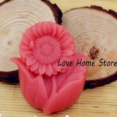 3D DIY Soft Silicone Candle Soap sunflower Making Molds Mould DIY Handmade