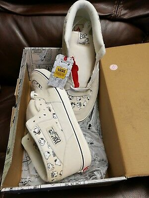 90344296c6 Vans Half Cab Snoopy Peanuts Family Cream Beige White Gum Mid Low NIB ships  NOW