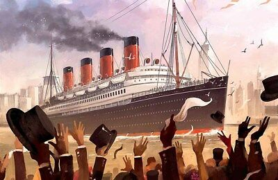 Holiday Gifts Home Art Wall Decor Titanic love Oil painting Printed On Canvas