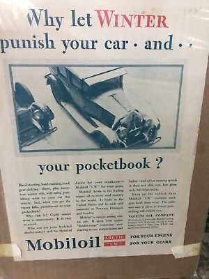 "1931 OLD MAGAZINE PRINT AD VACUUM MOBIL OIL Arctic CW Engine MODEL ""T""  ❤️j8"