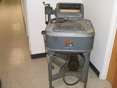 Antique Vint.1935 Aafa Maytag Wringer Washing Machne Works Gray Square