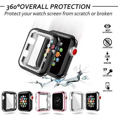 Protective Case Metal Bumper TPU Cover Screen Protector For 38/42MM Apple Watch
