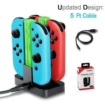For Nintendo Switch Joy Con Charger Dock Charging Stand Type-c Port + USB Cable