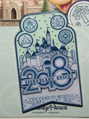 Disney Disneyland DATED 2018 LOGO THE YEAR TO BE HERE Pin