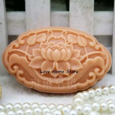 3D DIY Lotus Soft Silicone Candle Soap sunflower Making Molds Mould Handmade